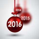2016 New Year card Stock Photo