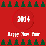 New year card 2014 Royalty Free Stock Images