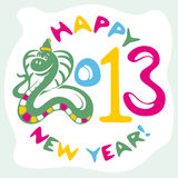 New year card with snake Royalty Free Stock Photography