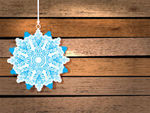 New Year card with snowflake Royalty Free Stock Photos