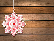 New Year card with snowflake Stock Photo