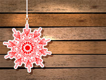New Year card with snowflake Royalty Free Stock Image