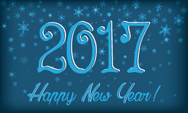 New Year card. Snowflakes, 2017. Transparency effects applied Royalty Free Stock Photo