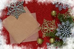 New Year card with space for text. Decoration for the new year. Merry Christmas and Happy New Year stock photography