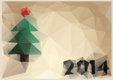 New Year card in style of cubism. 2014 Stock Photography