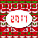 New year card 2017 sweater pattern Stock Photo