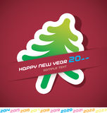 New Year Card. With New Year Tree Royalty Free Stock Photo