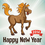 New Year card. Vector illustration Stock Image