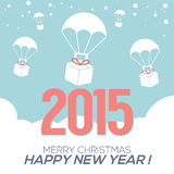 2015 New Year Card. Vector Illustration Stock Illustration