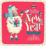 New Year card. Vector illustration Stock Photo