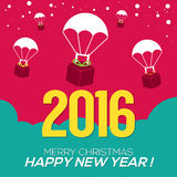 2016 New Year Card. 2016 New Year Card Vector Illustration Stock Images