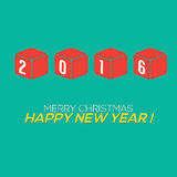2016 New Year Card. 2016 New Year Card Vector Illustration Stock Image
