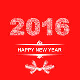 2016 New year card Royalty Free Stock Photography
