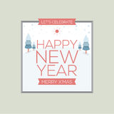 New Year Card Vintage Style. Vector Illustration royalty free illustration