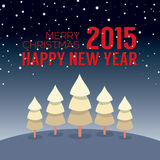 2015  New Year Card Vintage Style Royalty Free Stock Images