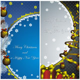 New Year Card With Golden Watch Royalty Free Stock Photos