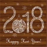 New year card 2019 on the wood Royalty Free Stock Image