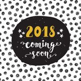 New Year card. 2018 year coming soon Stock Photos