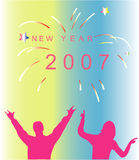 New Year - Carnival Party. Vector illustration new year's eve Stock Photo