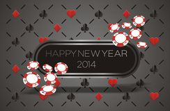 New year 2014 - casino concept Stock Image