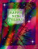 New Year Celebration. Computer generated background. Festive colors and markings make for a jubilant feel for a happy new year Royalty Free Stock Photography