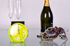 New Year celebration. With champagne Royalty Free Stock Photo