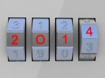 New Year Celebration 2014.  Vector Illustration