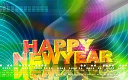 New-year celebration. Digital illustration of Royalty Free Stock Image