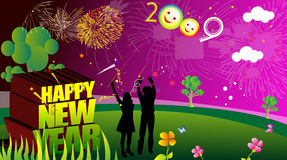 New year celebration. New year 3d creation in adobe royalty free illustration