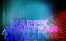 New-year celebration. Digital illustration of Stock Photos