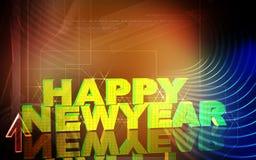 New-year celebration. Digital illustration of Stock Images
