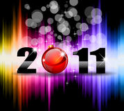 New Year Celebration Background. Colorful New Year Celebration Background with Glitter and Rainbow Colours Stock Photo