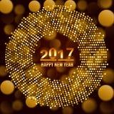 New Year 2017 celebration background. Stock Photos