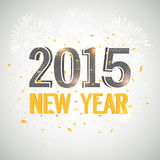 New Year 2015 celebration banner, poster or flyer. Royalty Free Stock Photo