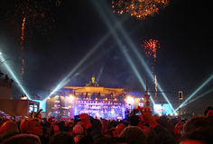 New Year celebration in Berlin Royalty Free Stock Images