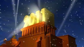 New Year 2011 celebration caption stock footage