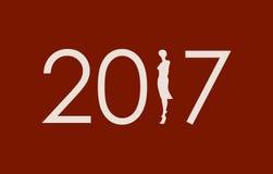 New Year celebration card. Stock Image