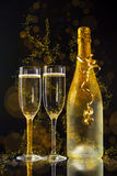 New Year celebration. With champagne Stock Images