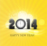 New Year 2014 celebration colorful background card. Illustration Stock Photo