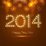New year for 2014 celebration colorful background. Illustration Royalty Free Stock Photography