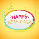 New year celebration. Colorful happy new year celebration design Stock Images