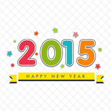 New Year 2015 celebration with colorful text. Stock Photo