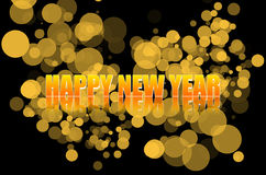 New Year Celebration. Colourful Image of happy New Year Celebration Stock Photo