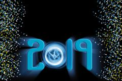 2019 New Year celebration copy space background vector illustration