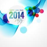 New year celebration. Creative 2014 new year greeting Stock Image