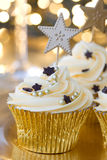 New Year celebration cupcakes Stock Photos