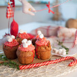 New Year celebration cupcakes, chocolate muffins Royalty Free Stock Photo