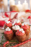 New Year celebration cupcakes, chocolate muffins Stock Image