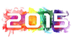 2015-New Year Celebration Design. An abstract illustration on 2015-New Year Celebration Design Royalty Free Stock Photos