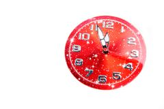 New Year celebration with dial clock Royalty Free Stock Images